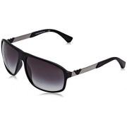 Emporio Armani EA 4029 anteojos de sol para hombre, color negro y verde mate 64/13/130