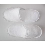 Zapatillas de baño en algodón peinado extra suave color blanco - Portugal Natura