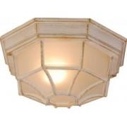 Kültéri lámpa, mennyezeti, aluminium, fehér-arany antikolt 1x60W E27 230V, IP44, Perseus 31210 Globo Lighting