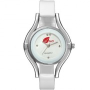 Arum White Silver Round Ladies Watch AW-092
