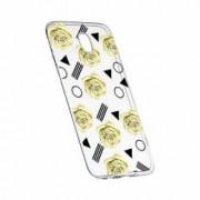Husa Silicon Transparent Slim Yellow Rose 137 Huawei Honor 5X GR5