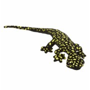 Speelgoed knuffel gekko geel zwart 62 cm