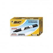 Great Erase Grip Chisel Tip Dry Erase Marker, Black, Dozen