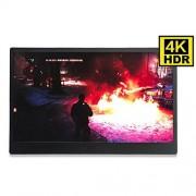 LUlin 13.3 Inch 4 K HDMI, DP portátil Monitor 3840 2160 HDR visualización IPS para Juego Compatible con HDCP 2.2 visualización para PS4 Pro Xbox One PC