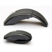 Frappel 2.4GHz Wireless Foldable Arch Optical Mouse Mice for Notebook/PC(Grey)
