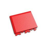"Červený vinylový plastový rohový nájezd ""typ A"" Invisible 2036 (hadí kůže), Fortelock - délka 14,5 cm, šířka 14,5 cm a výška 0,67 cm"