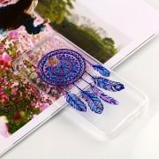 Para Huawei P20 Lite Y Nova 3e Blue Windbell Patrón Claro TPU Suave Aceite En Relieve Nuevo Estuche Protector