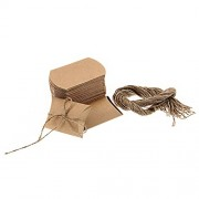 Imported 50pcs Kraft Brown Shabby Rustic Sweets Candy Gift Boxes Wedding Party Favor