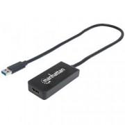 Manhattan Convertitore USB 3.0 ad HDMI Nero