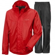 Didriksons Main Mens Set Diablo Red Regnset Herr