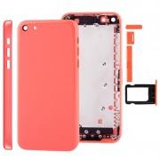Apple Full housing Chassis / backcover met montage plaat & Mute-toets + Power knop + volumeknop + Nano SIM-kaarthouder voor iPhone 5C(Pink)