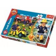 Puzzle clasic pentru copii - Pompierul Sam 24 piese maxi