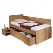 Univerzális ágy ágyneműtartóval, bükkfa, 90x200 cm, OTO