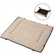 vidaXL Dog Bed Brown 65x80 cm