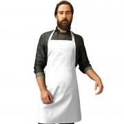 Merkloos Wit barbecue keukenschort voor volwassenen - Action products