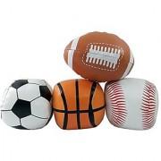 5 Mini Soft Plush Sports Balls Set for Kids - Set of 4 (Football Baseball Basketball Soccer)