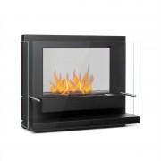 Klarstein Phantasma Vidro, камина с етанол, без дим, горелка от неръждаема стомана, черна (GDW24-PhantasmaVidro)