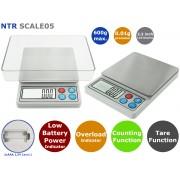 NTR SCALE05 Digitális precíziós analitikus mérleg 0.01g pontossággal és 600g méréshatárral
