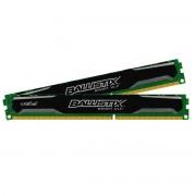 Ballistix Sport - DDR3 - 8 Go : 2 x 4 Go - DIMM 240 broches faible encombrement - 1600 MHz / PC3-12800 - CL9 - 1.35 V - mémoire sans tampon - non ECC