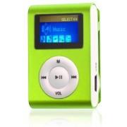 mini clip MP3 speler met display zilver en in-ear koptelefoon