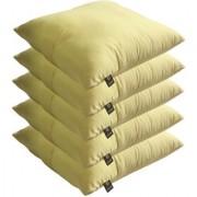 Lushomes Bright and Fluffy Lemon Yellow Cushions (Size 12x12 5 pcs.)