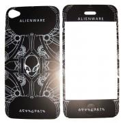 Folie protectie cu design iPhone 4 / 4S - AlienWare ( fata + spate )