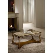 Ben - szögletes kisasztal márványlappal - bézs vagy rózsaszín