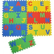 Play Puzzle style mat with English Alphabets set of 14 Pcs 12 X 12