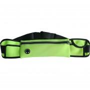 27.5CM WP1 Resistente A La Intemperie Cintura Fanny Pack Bolsa De La Cadera Bolsa Para El Hombre Mujer Deportes Al Aire Libre Corredor De Viaje De Senderismo Para Teléfonos Celulares De 6,3 Pulgadas (verde)