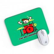 Mouse Pad 8 Bits Bateria Verde 24x20