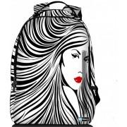 Sleevy laptop rugzak 15,6 Deluxe artistieke vrouw in zwart/wit