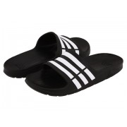 adidas Duramo Slide (ToddlerLittle KidBig Kid) BlackRunning WhiteBlack