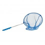 Merkloos Blauw uitschuifbaar visnet/vlindernet 36 cm