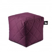 Extreme Lounging B-Box quilted poef-paars