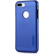 Husa telefon hurtel Carbon Slim Armor magnetyczne etui pokrowiec z wbudowaną metalową płytką iPhone 7 Plus niebieski