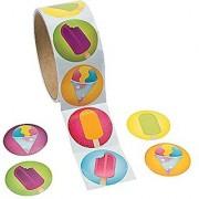 Cool Fun 13596804 Paper Summer Treats Roll Stickers