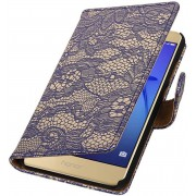 AA-Case Lace Bookstyle Hoes voor Huawei P8 Lite 2017 Blauw