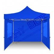 ray bot Gazebo pieghevole 3x3 blu professionale con finestre. PVC 350g