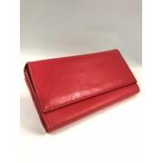 Piros műbőr brifkó pincér pénztárca
