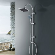 [neu.haus]® Set de ducha 'Amazonas' soporte de pared con 2 cabezales - ducha de lluvia y ducha de mano