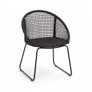 Kave Home Cadeira Sandrine preta