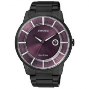 Citizen Black Stainless Steel Round Dial Quartz Watch For Men (AW1264-59W)
