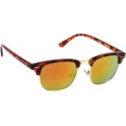 Deixels Clubmaster Sunglasses(Orange, Yellow)
