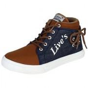 Shoetoez mens casual shoes(Lives blue brown)