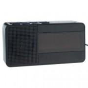 Set Radio Ceas Digital cu Alarma Happy Sheep CR-318 Functie Sleep Snooze AM FM PLL Negru si Adaptor Priza Centenar