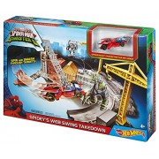 Hot Wheels Marvel Ultimate Spider-man Web Swing Drop-out Track Set By Mattel