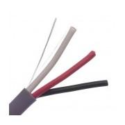 Belden Bobina de Cable Audio 5301UE 008U1000, 3 Conectores de 18W, 305 Metros, Gris