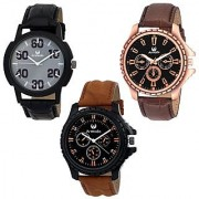 Armado AR-176281 Combo Of 3 Stylish Analog Watches-For Men