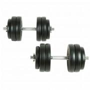 vidaXL Dumbbell Set 30 kg