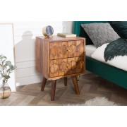 houten nachtkastje sheesham